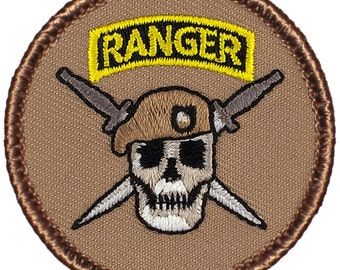 Army Ranger Patch (411A) 2 Inch Diameter Embroidered Patch