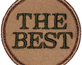 THE BEST Patch (528) 2 Inch Diameter Embroidered Patch
