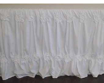 White Shabby Chic tablecloth