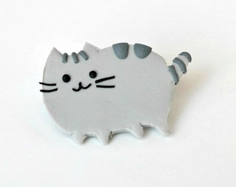 Pusheen cat - brooch