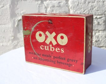 Characterful 1950s Vintage OXO Tin