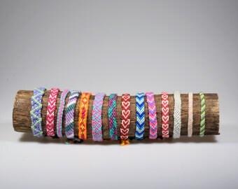 Handmade friendship bracelets | Macrame bracelets | Knotted bracelets | Pattern bracelet | Textile bracelets | Festival bracelets
