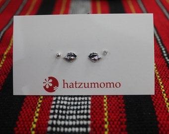 Shell Stud Earring Set Sterling Silver 925