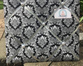 Black & White Baroque Photo/Memo Board