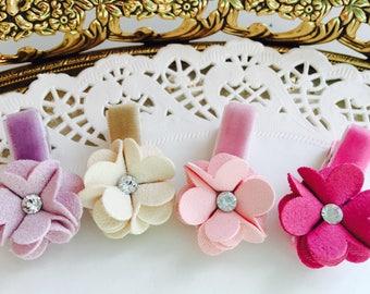 Baby hair clips mini flower hair clips for baby girls non slip hair clips infant barrettes baby barrettes mini hair clips