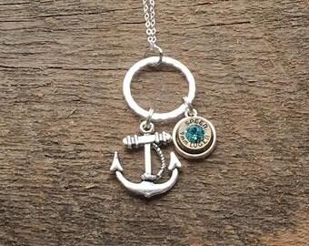 Anchor Bullet Necklace