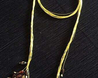 Fantastic Necklace Collar chulissimo Particolarissima! Collana lunga with perle sintetiche asimmetriche