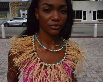 The Kalani Raffia necklace