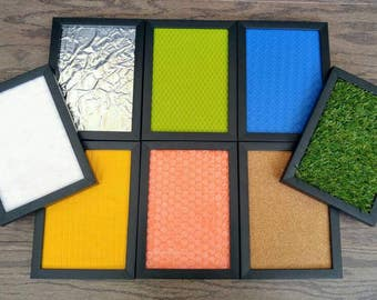 Sensory Boards, Framed Touch Boards, Gift for Kids, Montessori, Reggio Emilia, Teacher Resources
