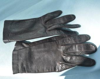 Vintage, Ladies, Dark Brown Gloves, Reenactor, Victorian Style