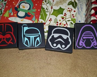 6x6 hand painted Star Wars canvas