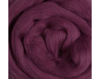 Ashland Bay Solid Colored Merino for Spinning or Felting - Berry 4 oz.