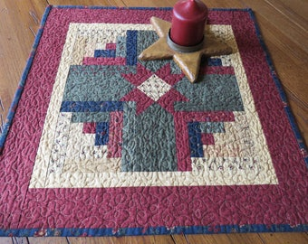 Quilted Table Topper - Log Cabin Star