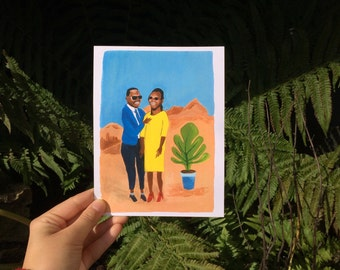 The Comfort in the desert, illustration, print, print, Ecolabel, Fine Art Print, Amadou and Mariam