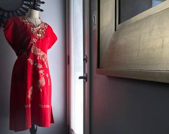 Mexican / Oaxacan Embroidered Dress