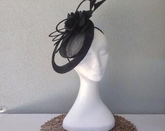Ladies black headband fascinator