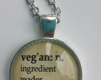 Vegan activist pendant necklace