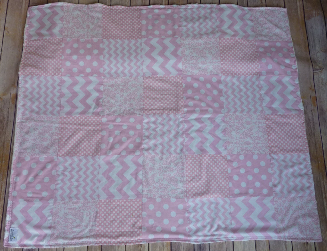 Light Pink Baby Blanket Minky Blanket Nursery Decor Light Pink - Pink and grey nursery decor