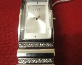 most elegant ELLE designer ladies stainless steel watch    wow!