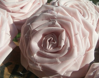 Wedding Decor, Blush Fabric Roses, Fabric Rose, Wedding Supplies, Wreath Flowers, Floral Embellishment, Pink Fabric Flowers, Blush Flowers