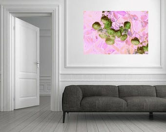 "Painting on canvas ""Flowers and candy"""