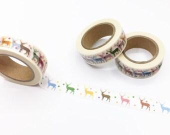 Colorful Deer Washi Tape