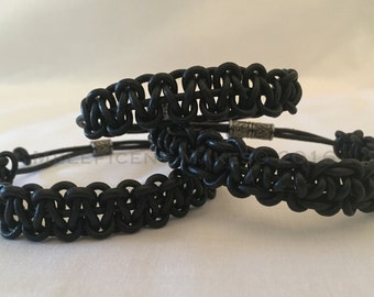 Leather Knotted Bracelet - (Item B 007)