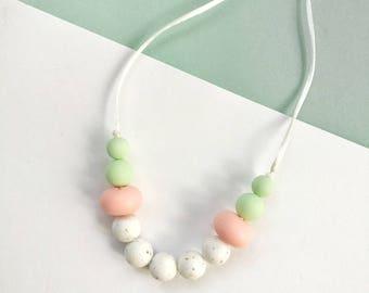 Silicone Baby Teething CANDY Necklace - Teether - Mom, Modern Nursing Necklace, Chewlery, Stillkette, collier allaitement