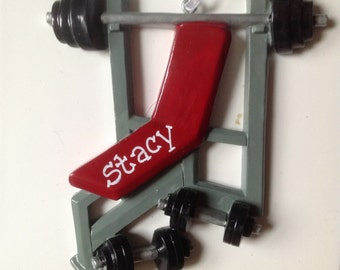 33% Off Personalized Bench Press, Weight Lifting , Olympics, Weight Training Christmas Ornament