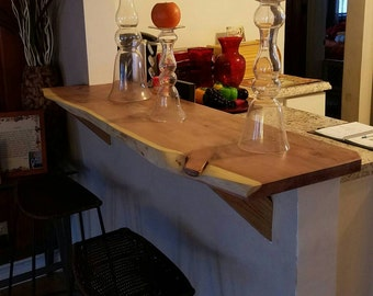 Custom live edge bar top!