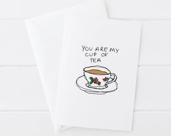 Cup Of Tea Greetings Card