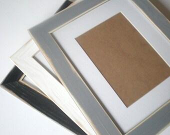 Picture frame A4 wood frame photo frame distressed frame rustic frame crafts home decor choose colour woodworking chicframeshop