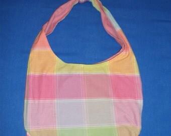 Pastel Plaid Tote/Dog Bag