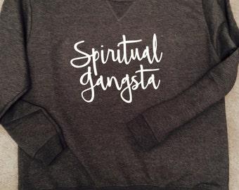 Spiritual gangsta sweater in gray ultra warm and soft cotton