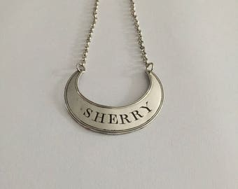 Silver Plated Decanter Label for Sherry, early 19th Century