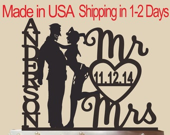 Joker and Harley Quinn silhouette, Personalized Cake Topper With Name and Date, Funny Wedding Cake Topper,Mr & Mrs Cake Topper, CT131