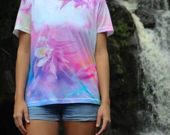Wildflower Tee-Floral T-shirt-All Over Print Women's-Ladies Tee