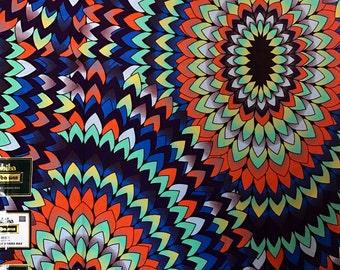 Ankara fabric, African Wax Print fabric, Cotton, African Print, fabric, African Ankara, multicoloured ankara sold by the yard