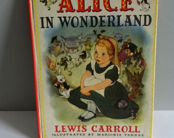 Alice in Wonderland book Lewis Carroll 1955 edition.