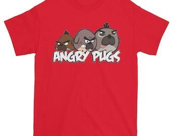 Pug Lover Tee Tshirt Angry Pugs Pug Gift For Her Womens Pug Shirt Pug Art Gift Pug Gift Funny Pug Shirt Pug Tshirt
