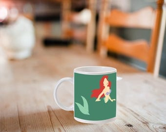 Ariel, Little Mermaid, Disney, Coffee Mug