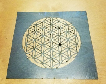 Flower of life stencil laser cut sacred geometry