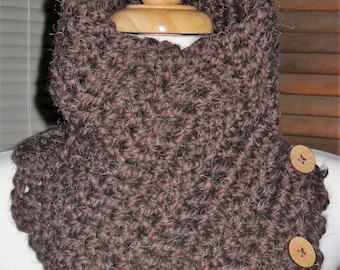 Thick Brown Cowl Scarf