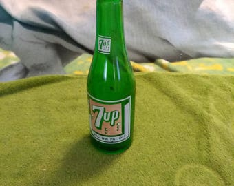Antique Glass 7up Bottle
