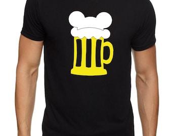 Mickey Mouse Beer Mug for Disney Trips Customizable Vinyl. Next Level Brand XS-2XL