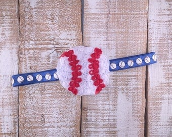 Baseball Headband, Newborn Headband, Baby Girl Headband, Toddler Headband, Photography Prop