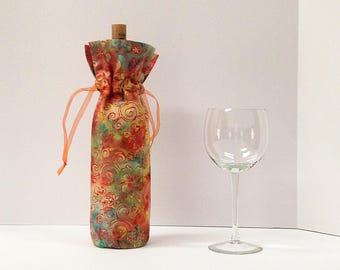Wine Gift Bag, Wine Tote Bag, Bridesmaids Gift Bag, Wine Tote, Wine Sock, Hostess Gift, Housewarming Gift, Wine Gift Bags, Candle Gift Bag
