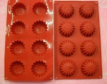 8 soft silicone mold cookies / MARGUERITE 28 X 16 CM