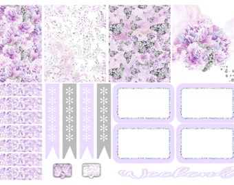 Purple Butterflies Tiny Kit Planner Stickers