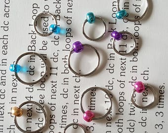 Snag-Free Stitch Markers, Stitch Markers, Ring Markers, Knitting Tools, Knitting Markers, Stitch Minder, Stitch Marker Set